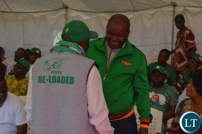 Minister of Infrastructure Ronald Chitotela with Home Affairs Minister Kampyongo during a campaign Rally in Luanshya