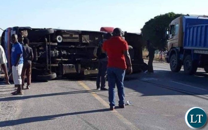 Accident Scene caused by RATSA Chief Executive Officer Zindaba Soko