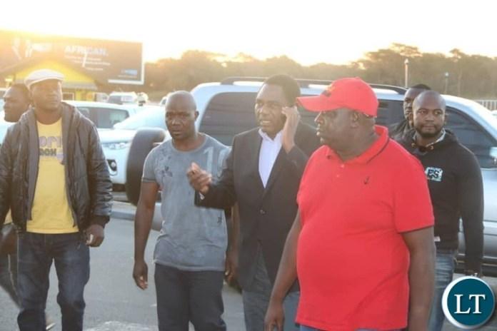 HH arriving at Simon Mwansa Kapwepwe