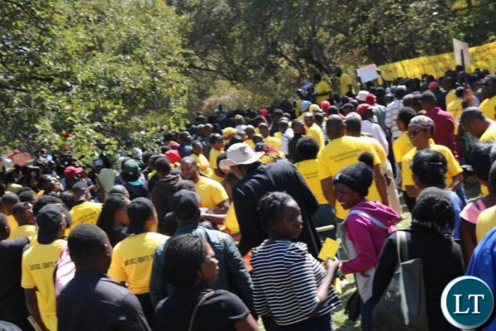 Yellow Card Campaign Protest in Lusaka Yesterday