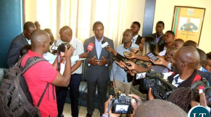 HH speaking to Journalists at ACC Headquarters