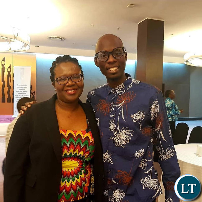 Chapter One Foundation Executive Director Linda Kasonde with musician Pilate at the launch of the Foundation last week