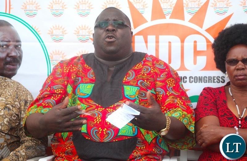 Opposition National Democratic Congress Leader Chishimba Kambwili