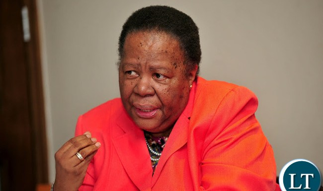 South Africa's Minister of International Relations and Cooperation Dr. Naledi Pandor