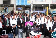 A Zambia Airways 25-member cabin crew