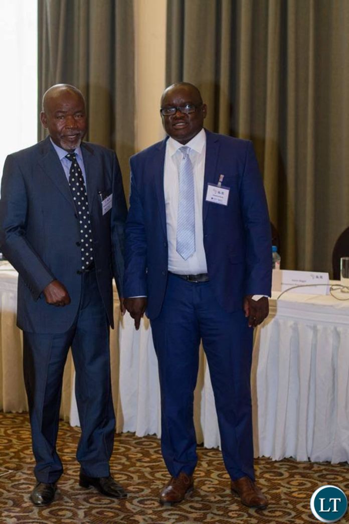 Mr Banda and UPND Chairperson for International Relations Ambassador Mulondwe Muzungu at one of the Africa Liberal Network events