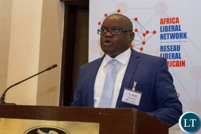 Mr Banda speaking at one of the Africa Liberal Network events