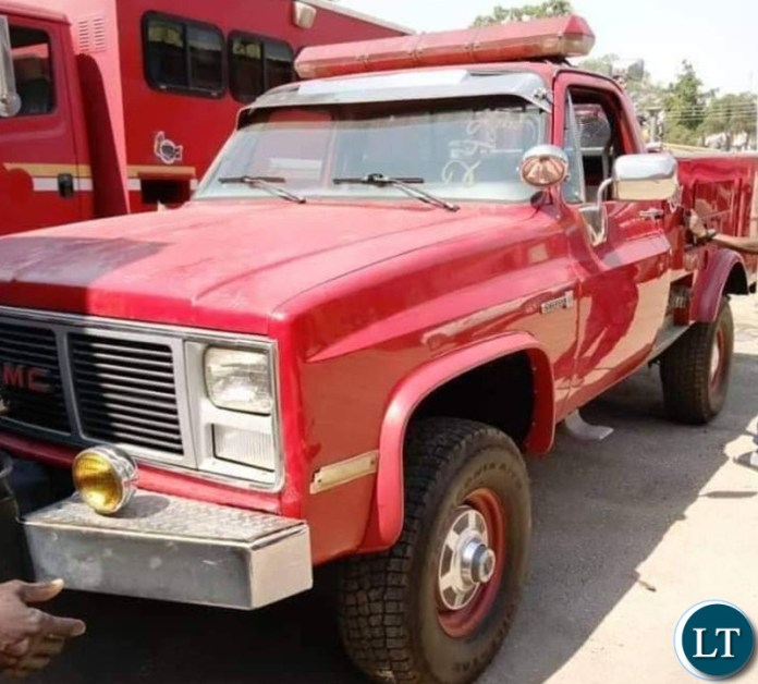The the donated Fire Trucks pictured in Zambia