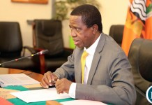 President Edgar Chagwa Lungu addresses Cabinet at State House on Monday, 21st October, 2019