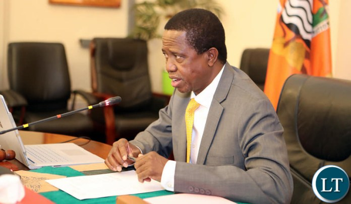 President Edgar Chagwa Lungu addresses Cabinet at State House on Monday, 21st October, 2019