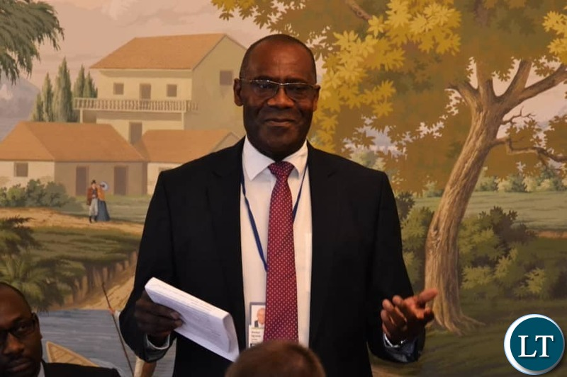 Finance Minister Dr BWALYA NG'ANDU addressing investors from North America, South America, Europe, Middle-East and Asia, at an Investors Forum held at the Hay Adams Hotel in Washington DC, USA