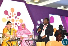 Minister of National Development Planning Alexander Chiteme, MP, speaking on during a panel discussion on Ending harmful practices : making commitments real at the International Conference on Population and Development in Nairobi Kenya on Wednesday 13 November, 2019. Minister Chiteme is representing His Excellency Mr. Edgar Chagwa Lungu, President of Zambia at the ICPD25. PHOTO | Chibaula Silwamba | MNDP