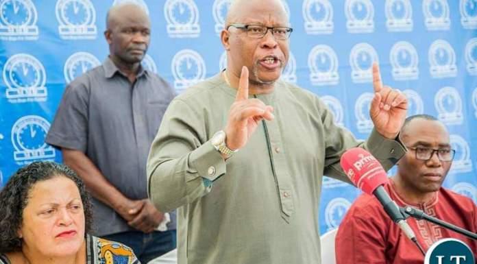 MMD President Nevers Mumba at a Press Briefing