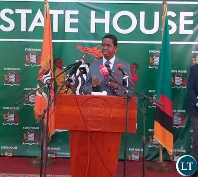 President Lungu Addressing the Media