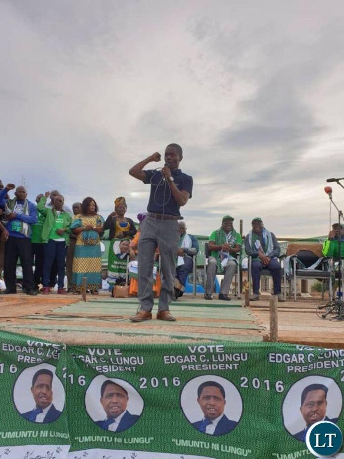 Copperbelt Patriotic Front Provincial Chairman Nathan Chanda
