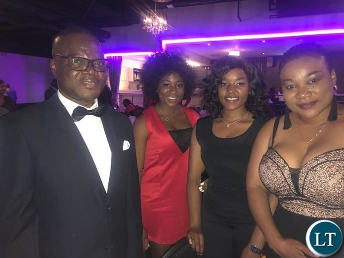 Guests at the Welcome Gala Dinner organised in his honour by the Zambia Association in South Africa (ZASA) at Scarlet Ribbon, Kempton Park, Johannesburg.