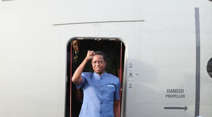 President Lungu on Arrival at Mansa Airport