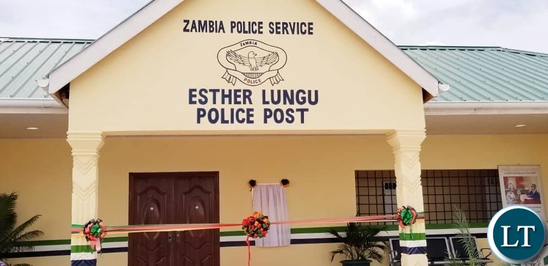 The newly built and  furnished 'Esther Lungu Police Post' in Kitwe's Nkana East,