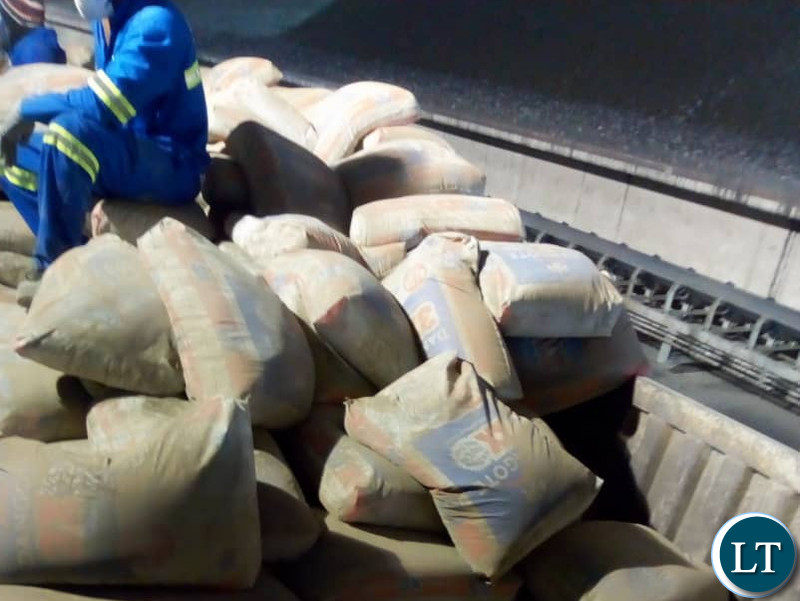 Part of the Recalled Dangote Cement