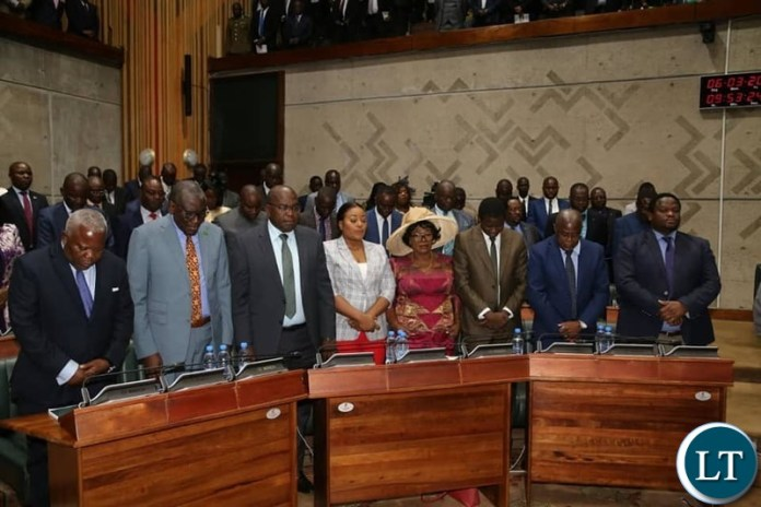 Cabinet Ministers During the President6 Address on National values and Principles