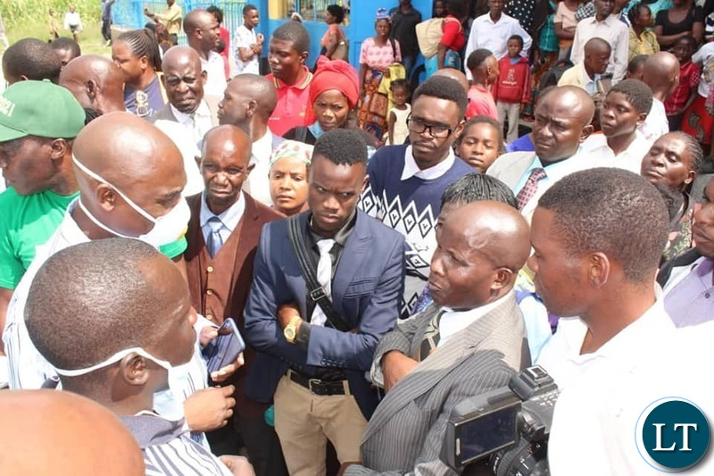 Social Distancing out of the Window: Copperbelt Minister addressing Journalist after checking on COVID-19 Compliance Guidelines