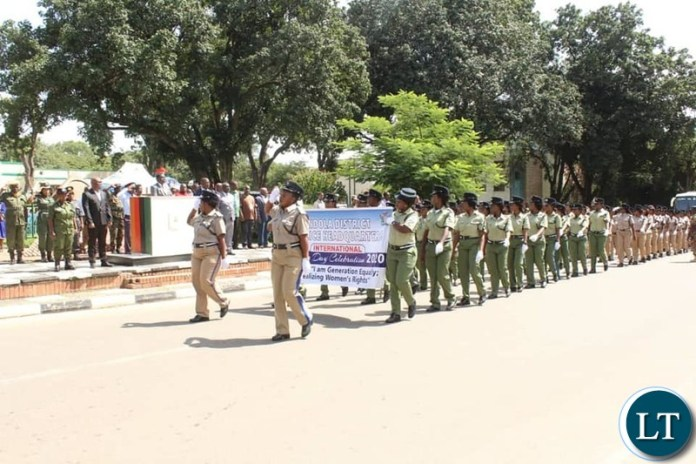 Zambia Police Women During the Celebration of International Women's Day