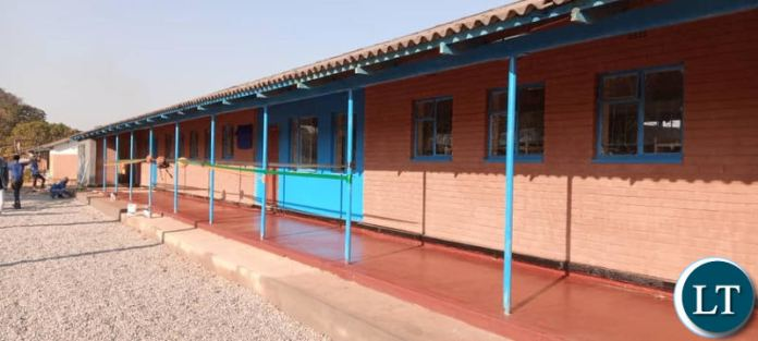 Part of the refurbished dormitory at Solwezi Technical School