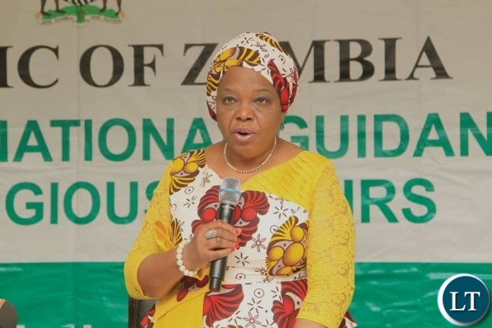 Minister of National Guidance and Religious affairs Hon. Rev. Mrs Godfridah Sumaili