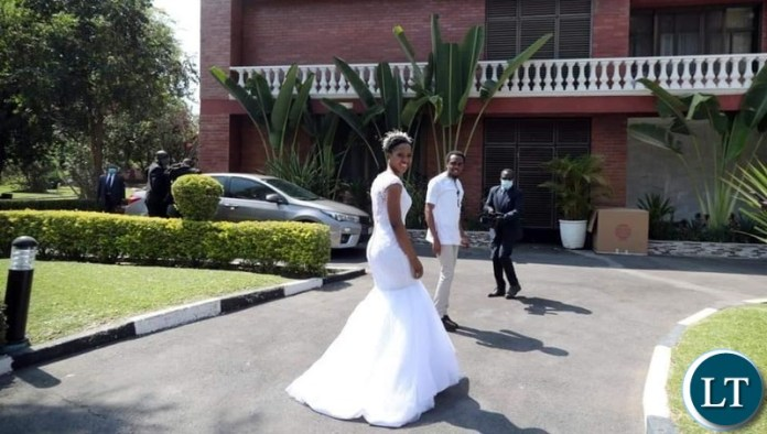 Tasaila Lungu Shows off Her Wedding Dress