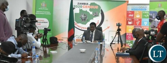 Minister Chiteme addresses the media