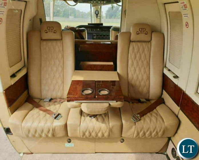 The Inside of Foreign Affairs Minister Joseph Malanji's Bell 430 Helicopter