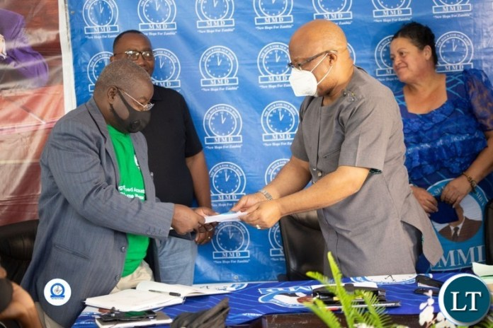 Nevers Mumba Filling in Nomination Papers for MMD Convention