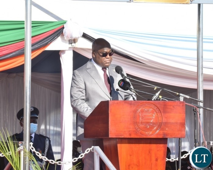 DRC President Felix Tshisekedi and Guest of Honour delivering his speech to officially open the Kazungula bridge