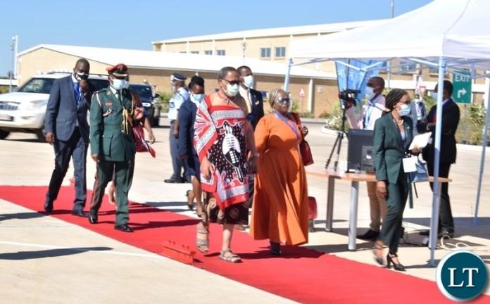 Deputy Prime Minister of Eswatini Themba Nhlanganiso Masuku arriving at the official opening of Kazungula bridge