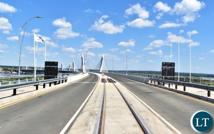 The newly built Kazungula bridge