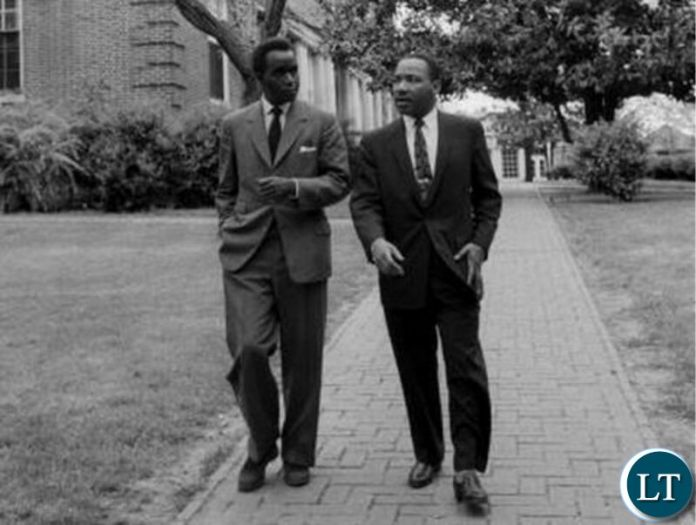 Dr Kenneth Kaunda with Martin Luther King in 1960 when Dr Kaunda visited the US before Zambia got independence