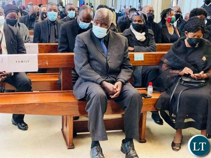 Late Dr Kenneth Kaunda's first Son Panji Kaunda at his Father's Funeral Service