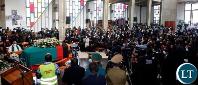 The funeral church Service of the late President Kenneth Kaunda