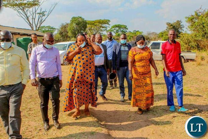 Minister of Community Development Doreen Mwamba