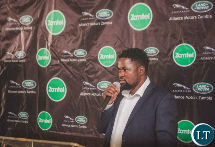 Kelvin Bandela, winner of the Win a Range Rover promotion delivering his Thank You speech
