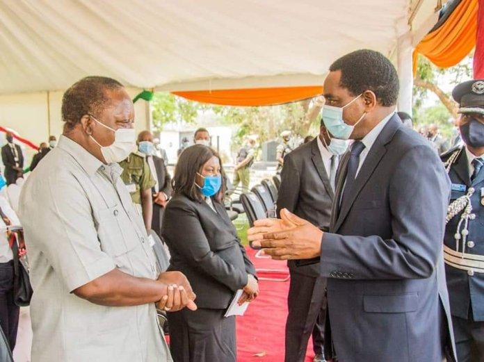 President Hichilema with Former Vice President Enock Kavindele