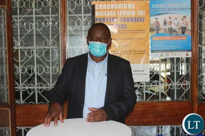 Local Government Association of Zambia Covid 19 Advisory Centre Coordinator Ernest Sumani