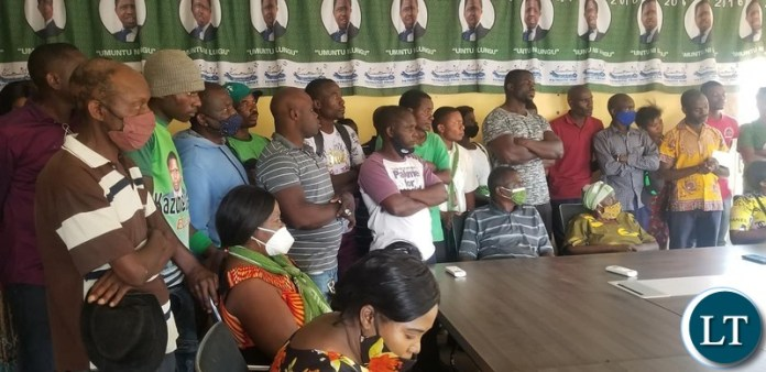 PF cadres in Solwezi listening to Given Lubinda