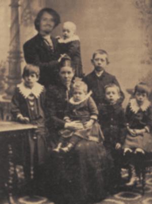 Luscher und Familie, um 1923