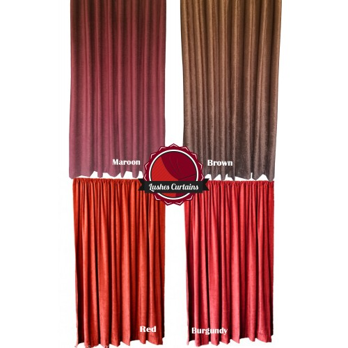 14 ft high fire rated velvet curtains w rod pocket top