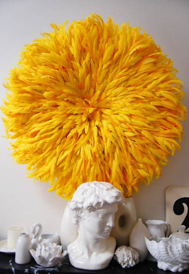 Modern Interior Decorating With Juju Hats Made Of Bird Feathers