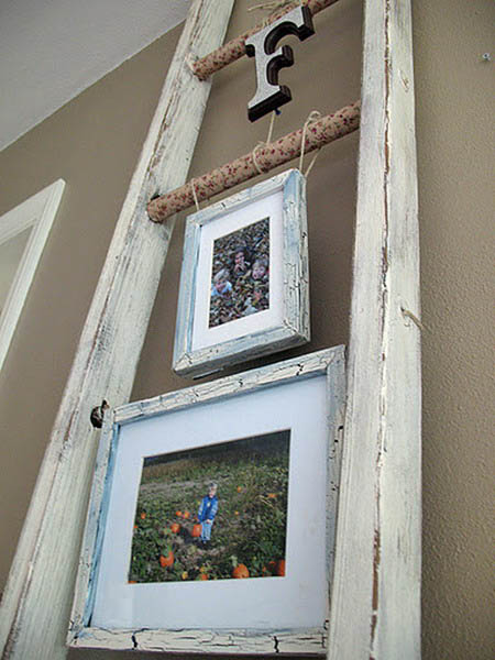 4 Creative Wall Decoration Ideas Old Ladders For Modern
