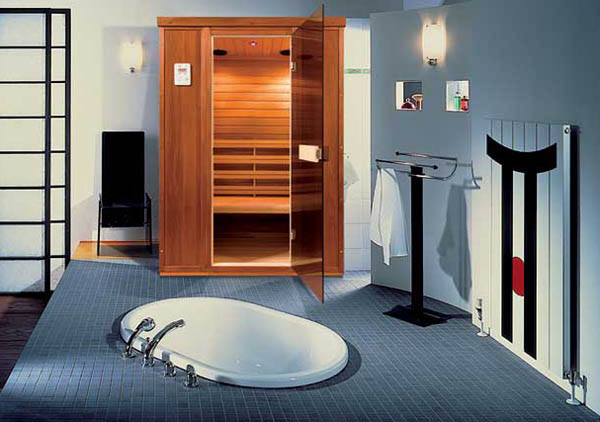Sauna With Infrared Heater Contemporary Addition To