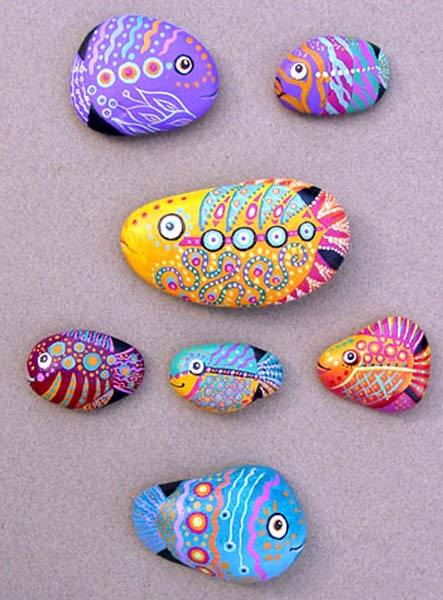 Painted Rocks for Artistic Yard and Garden Designs, 40 ... on Rock Decorating Ideas  id=50382