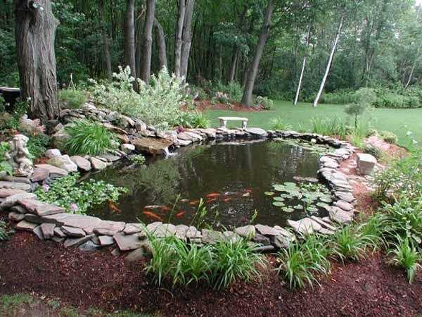 21 Garden Design Ideas, Small Ponds Turning Your Backyard ... on Backyard Pond Landscaping Ideas id=56801